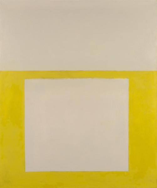 """""""Cool"""" Series No. 2 (Yellow over Tan), 1963 - Perle Fine"""