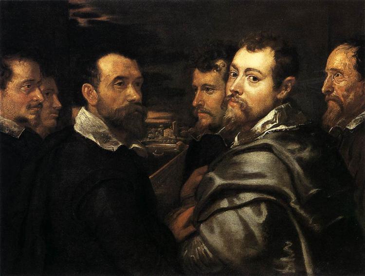 Self-Portrait in a Circle of Friends from Mantua, 1602 - Peter Paul Rubens