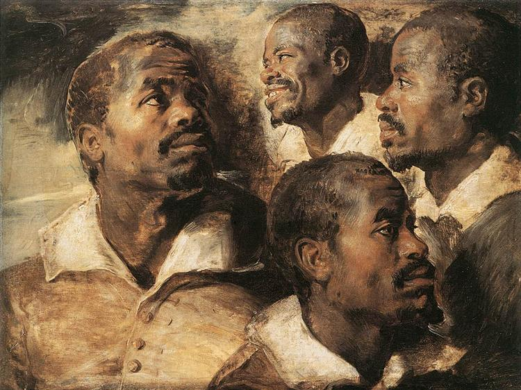 Studies of the Head of a Negro - Peter Paul Rubens