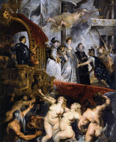 The Landing at Marseilles, 3rd November 1600, 1621 - 1625 - Peter Paul Rubens