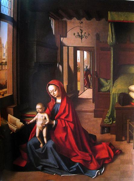 The Virgin and Child in a gothic interior, 1460 - Петрус Кристус