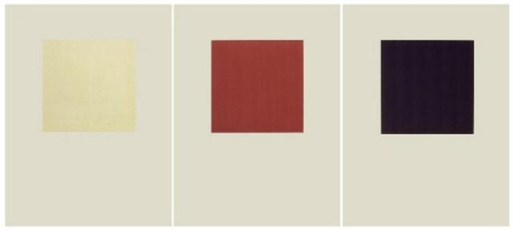 Untitled (Cream / Red / Black) - Phil Sims