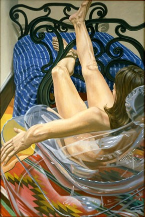 Iron Bed and Plastic Chair, 1999 - Philip Pearlstein