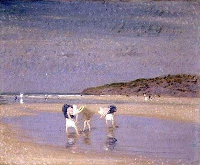Boulogne Sands. Children Shrimping, 1891 - Philip Wilson Steer