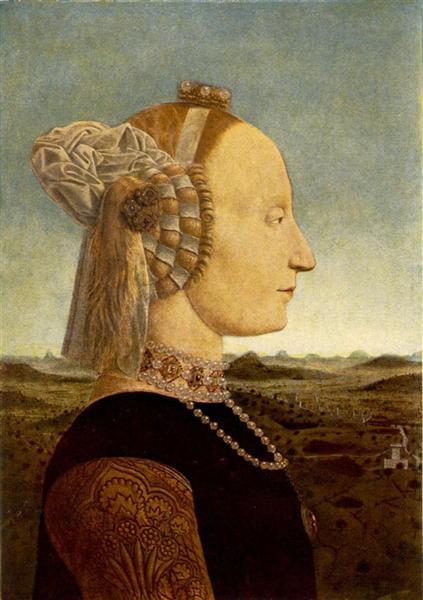 Portrait of Battista Sforza, 1465 - Piero della Francesca