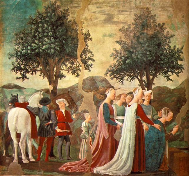 Procession of the Queen of Sheba, 1452 - 1466 - Piero della Francesca