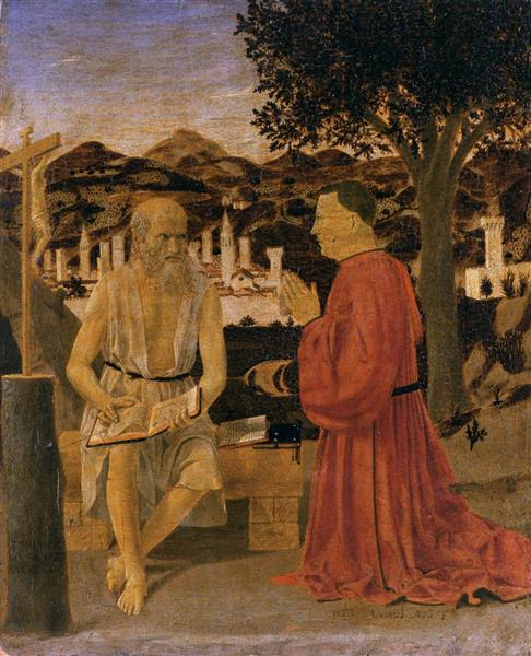 St. Jerome and a Donor, 1451 - Piero della Francesca