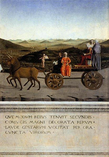 Triumph of Battista Sforza, 1465 - 1466 - Piero della Francesca