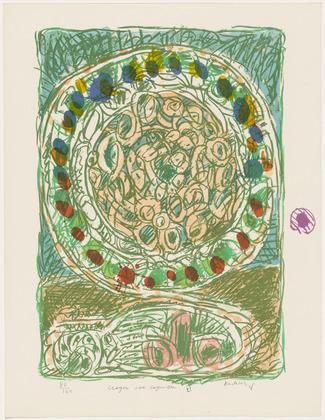Al'Jotte Pie (Tarte Al'Jotte) from the portfolio Pencil on Shell, 1971 - Pierre Alechinsky