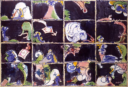 Alvéoles, 1972 - Pierre Alechinsky
