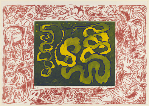 Rattle-less Snake, 1971 - Pierre Alechinsky