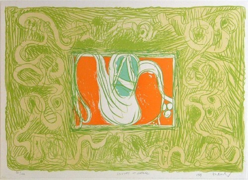 Shrimp and Salad (Crevette et salade), 1969 - Pierre Alechinsky