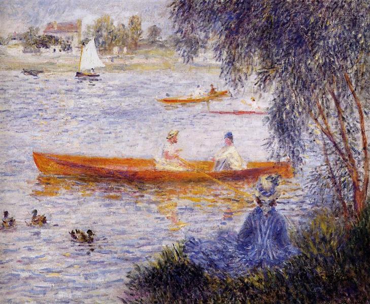 Boating at Argenteuil, 1873 - Pierre-Auguste Renoir