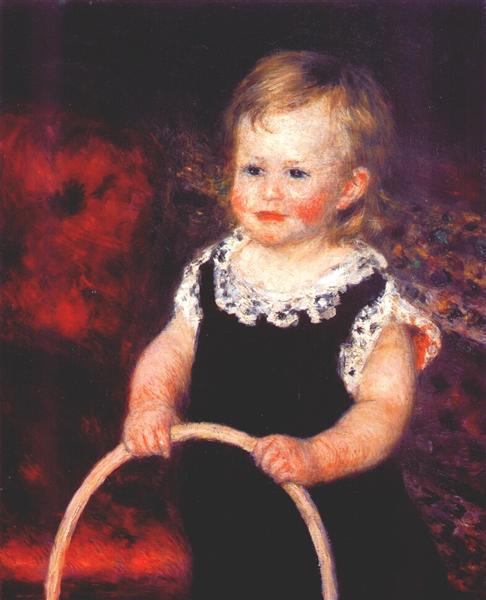 Child with a hoop, c.1875 - Pierre-Auguste Renoir