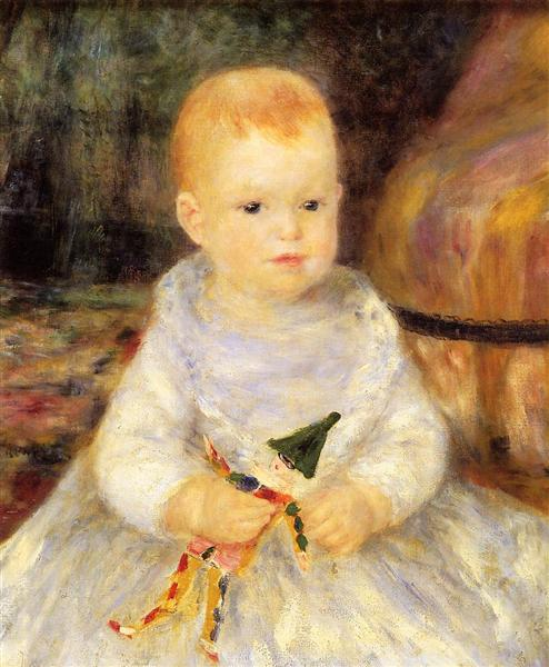 Child with Punch Doll, 1874 - 1875 - Pierre-Auguste Renoir