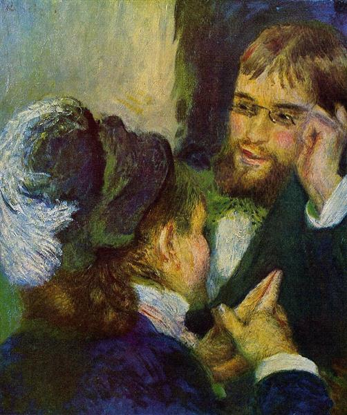 Conversation, 1879 - Pierre-Auguste Renoir