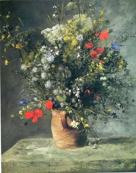 Flowers In A Vase C1866 Pierre Auguste Renoir Wikiart