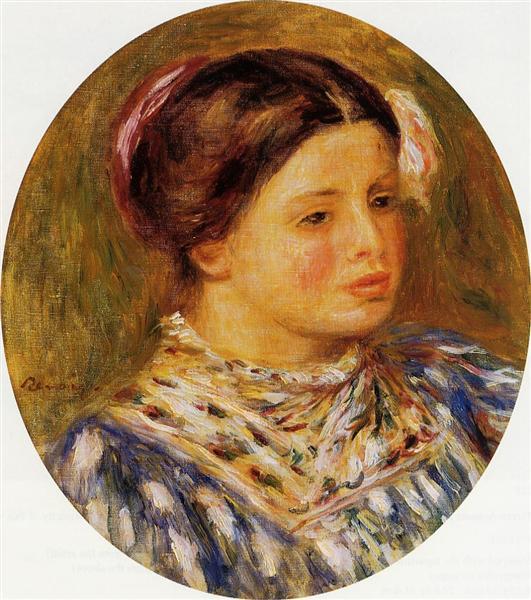 Girl in Blue, 1918 - Pierre-Auguste Renoir