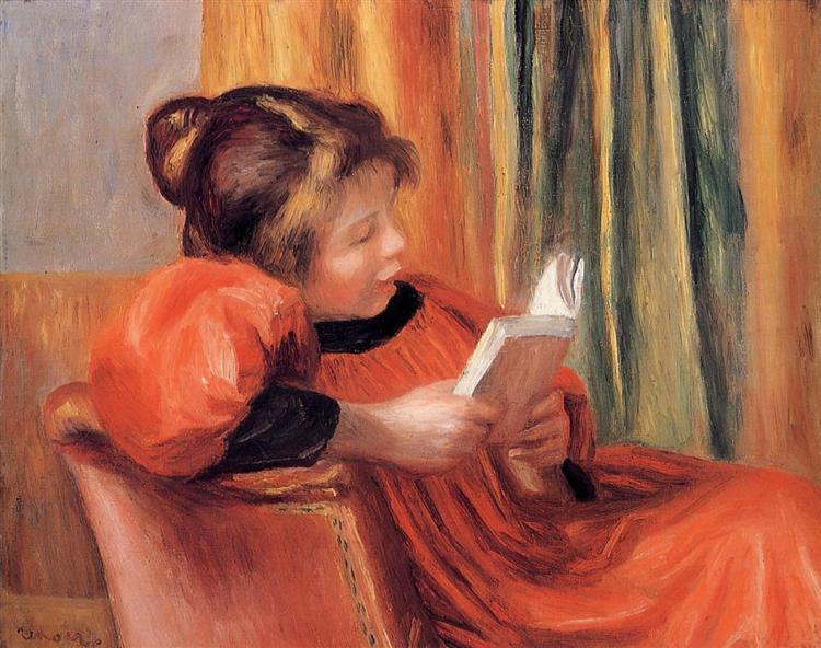 Girl Reading, 1890 - Pierre-Auguste Renoir