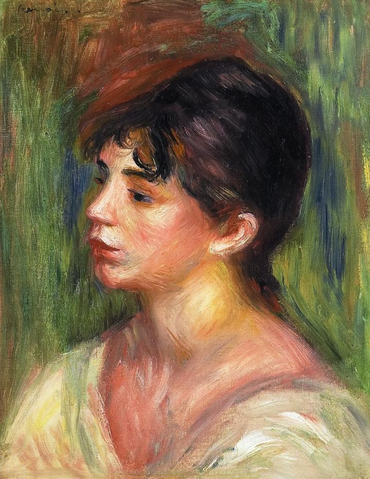 Portrait of a Woman Painting by Pierre Auguste Renoir |Renoir Portraits