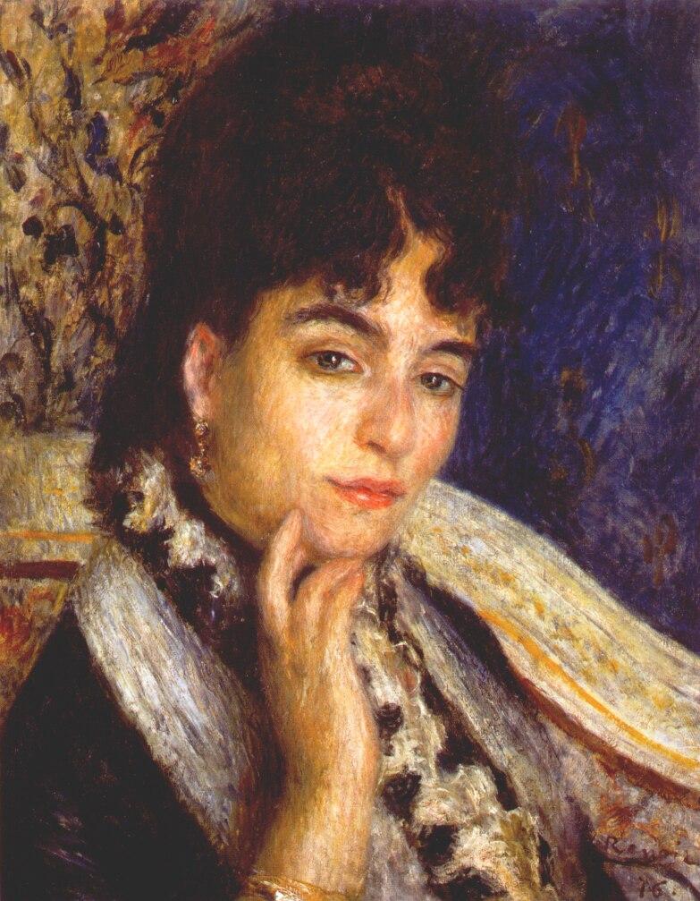 Portrait of Mme. Alphonse Daudet - Renoir Pierre-Auguste ...