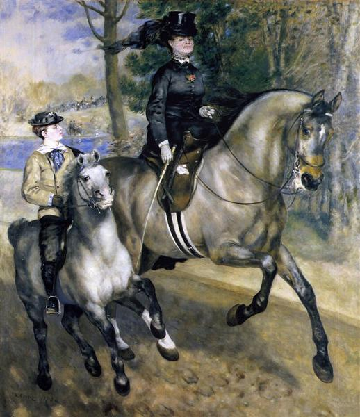 Riding in the Bois de Boulogne (Madame Henriette Darras or The Ride), 1873 - Pierre-Auguste Renoir