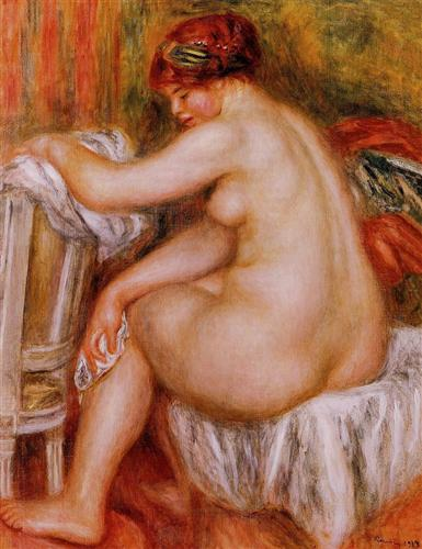 Seated Nude - Pierre-Auguste Renoir