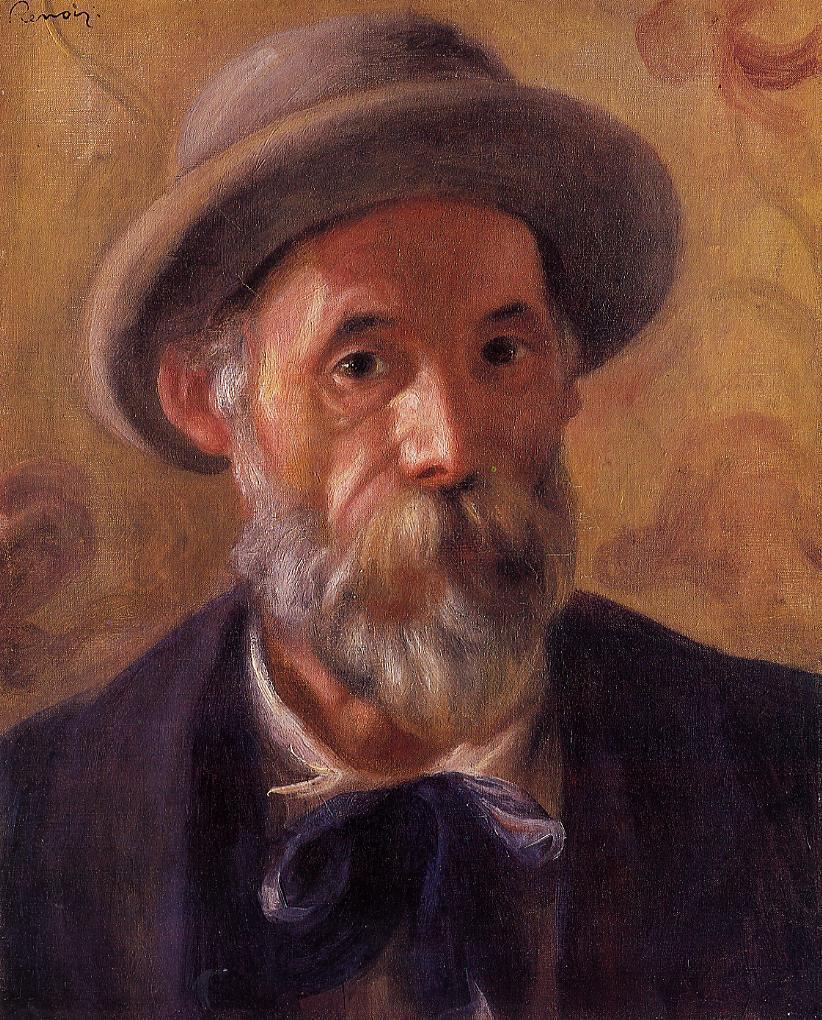 french painter Auguste Renoir self-portrait