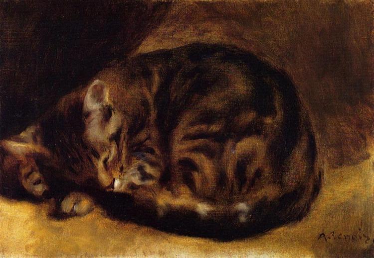 Sleeping Cat, 1862 - Pierre-Auguste Renoir