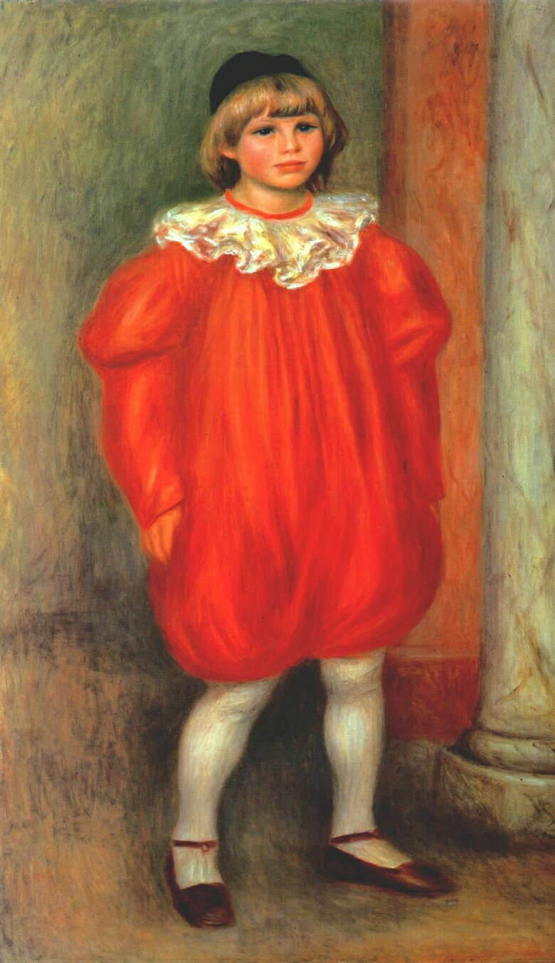 The clown claude ranoir in clown costume 1909 pierre for Auguste renoir paris