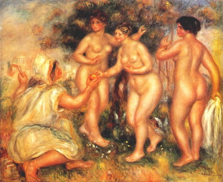 The judgment of Paris, 1908 - Pierre-Auguste Renoir