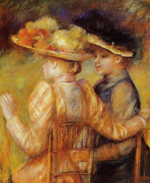 Two Women in a Garden, 1895 - Pierre-Auguste Renoir