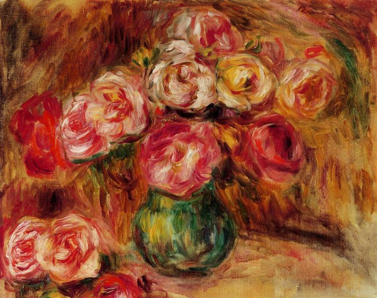 Vase of Flowers - Pierre-Auguste Renoir