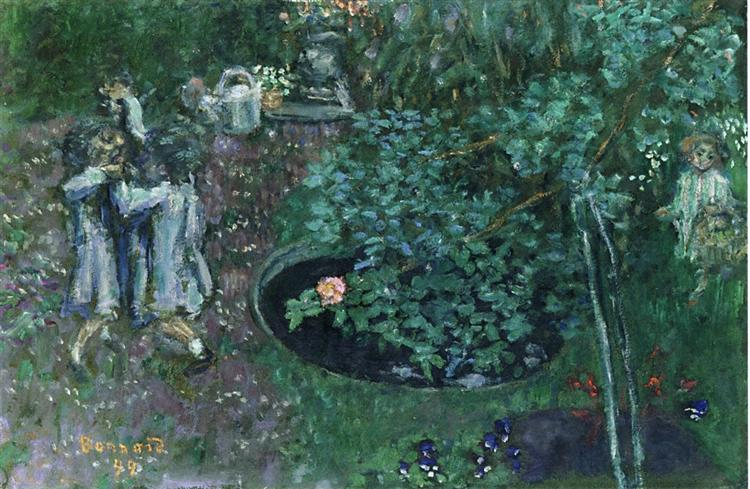 Children Playing in a Garden, 1899 - Pierre Bonnard