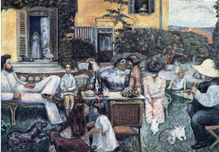 The Bourgeois Afternoon or The Terrasse Family, 1900 - Pierre Bonnard