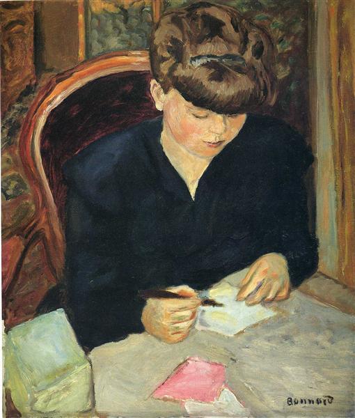 The Letter, 1906 - Pierre Bonnard