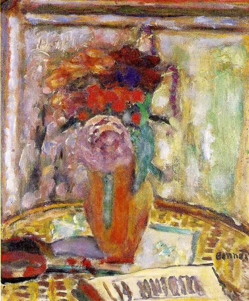 The Vase Of Flowers 1945 Pierre Bonnard Wikiart Org