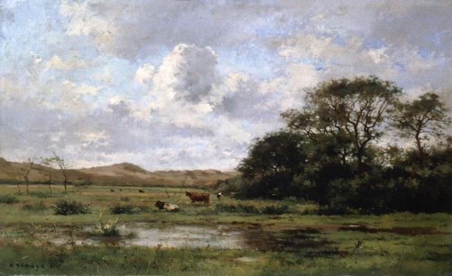 A Landscape with Cows, 1881 - Pierre Emmanuel Damoye