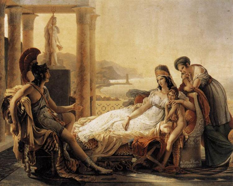 Aeneas tells Dido the misfortunes of the Trojan city, 1815 - Pierre-Narcisse Guerin