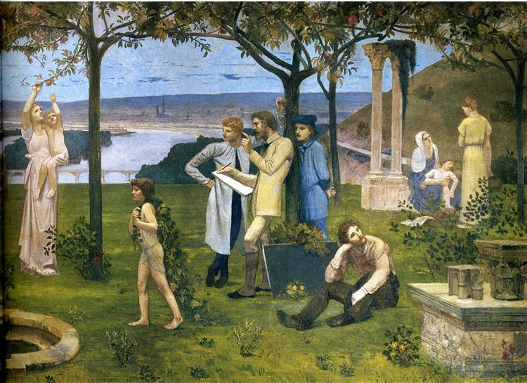 Between Art and Nature (detail), 1888 - Pierre Puvis de Chavannes