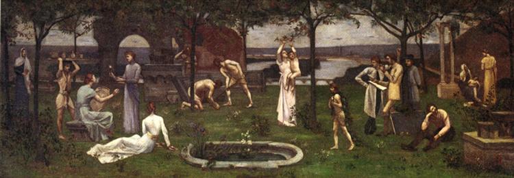 Between Art and Nature, 1888 - Pierre Puvis de Chavannes