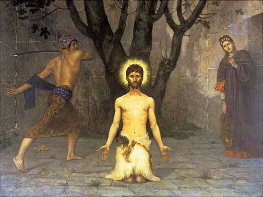 The Beheading of St. John the Baptist, 1869 - Pierre Puvis de Chavannes