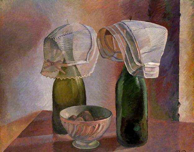 Still Life with Bottles and Breton Bonnets, 1924 - Pierre Roy