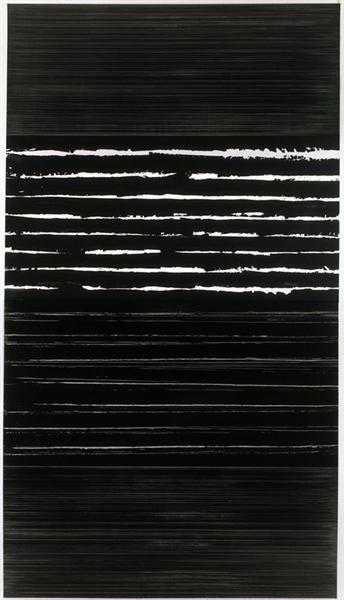 Peinture 324 x 181 cm, 14 mars 1999 (Polyptyque), 1999 - Pierre Soulages