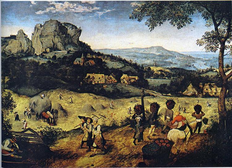 Haymaking (June and July), 1565 - Pieter Bruegel the Elder
