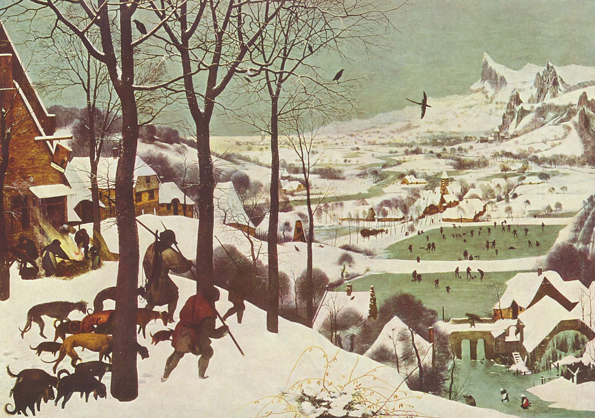 Hunters in the Snow, 1565