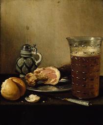 Still Life with a Ham - Pieter Claesz