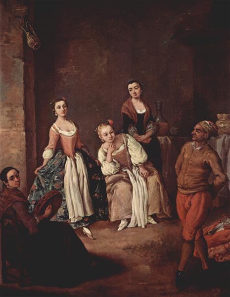 The furlana (Venetian dance) - Pietro Longhi