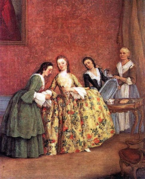 The Venetian Ladys Morning - П'єтро Лонгі