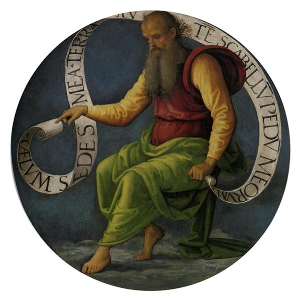 Polyptych of St. Peter (Prophet Isaiah), 1496 - 1500 - Pietro Perugino